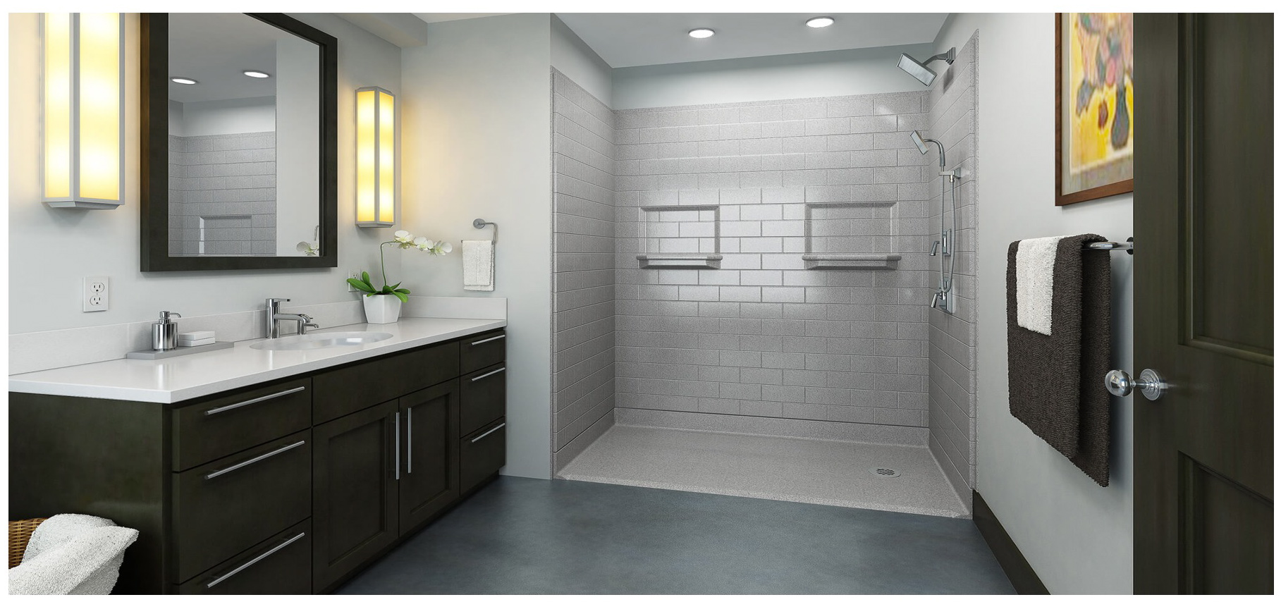 Handicap Accessible Barrier Free Showers for Residential Applications